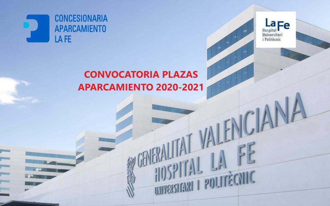 CONVOCATÒRIA PLACES D'APARCAMENT 2020-2021